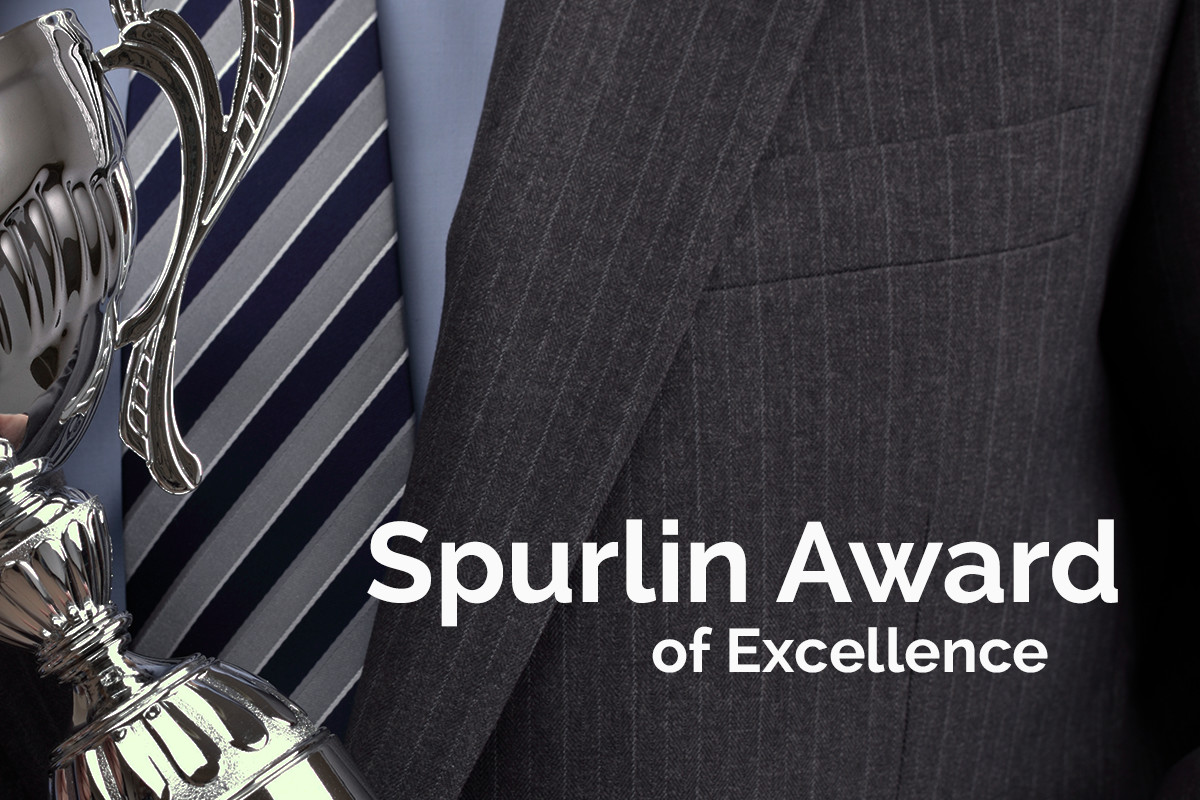 Rick Akey receives the Spurlin Award of Excellence